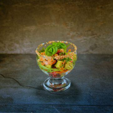Crevettencocktail im Glas