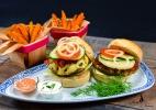 Fisch- und Fleischburger