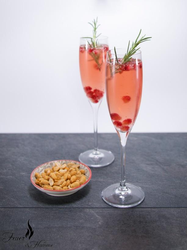 Rhabarber Granatapfel Sekt