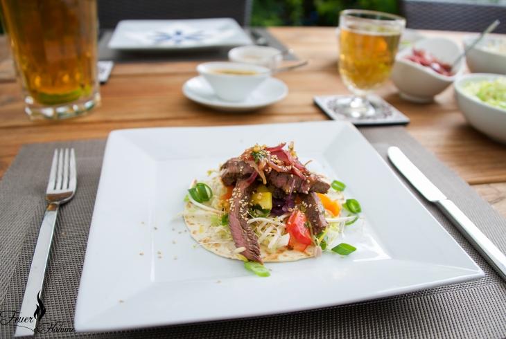 Korea Fleisch Teller